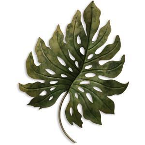 28 Inch Metal Leaf Wall Decor