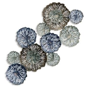 53.5 Inch Metal Floral Wall Decor