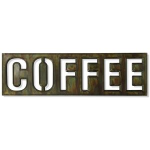 Coffee Bistro Sign - 36 Inch Metal Wall Art with Open Work Cut-Out
