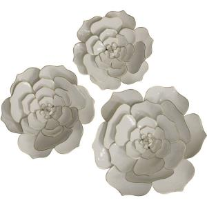 Floral Metal - 24 Inch Wall Art (Set of 3)