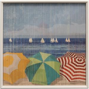 "Beach Umbrellas - 32.7"" 3D Kinetic Wall Art"