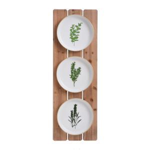 Herbs Plates - 35.43 Inch Wall Art