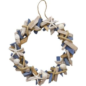Wooden Seaside - 14 Inch Accent Wreath