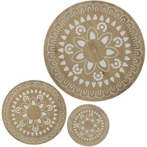 31.5 Inch Round Wall Decor (Set of 3)