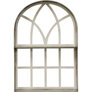 24 Inch Arched Wood Frame Wall Decor