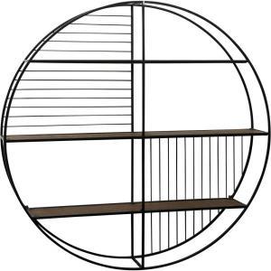 36 Inch Circular Open Wall Shelf