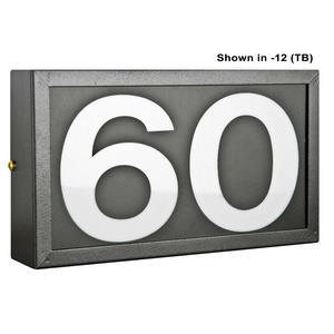 "Two Light 4"" Small Standard Address Frame"