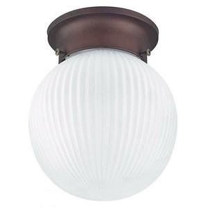 One Light Globe Flush Mount