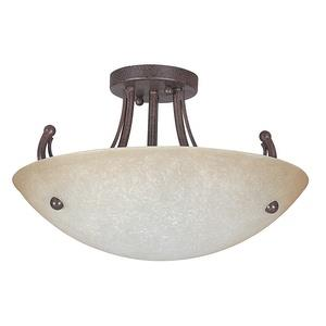 Tempest - Three Light Semi-Flush Mount