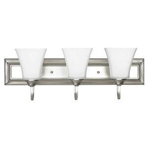 Three Light Square Bath Vanity