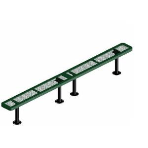 10' Surface Mount Rounded Corner Bench without Back