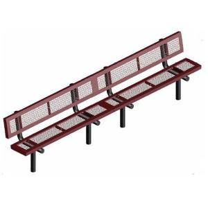 10' Inground Mount Infinity Bench with Back