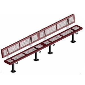 10' Surface Mount Infinity Bench with Back