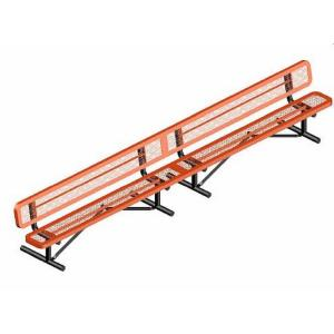10' Portable Rounded Corner Bench with Back