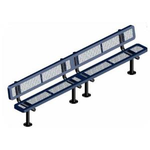 10' Surface Mount Rounded Corner Bench with Back