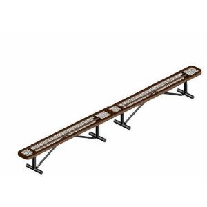 15' Portable Rounded Corner Bench without Back