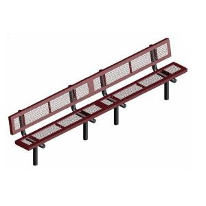 15' Inground Mount Infinity Bench with Back