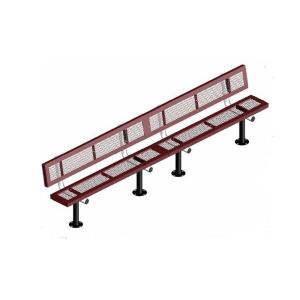 15' Surface Mount Infinity Bench with Back