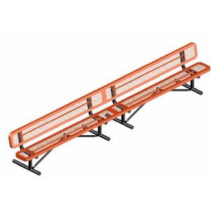 15' Portable Rounded Corner Bench with Back