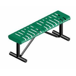 4' Portable Classic Rolled Edge Bench without Back
