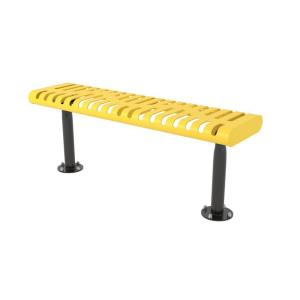 4' Surface Mount Classic Rolled Edge Bench without Back