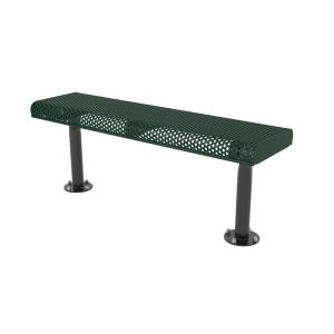 4' Surface Mount Innovated Rolled Edge Bench without Back