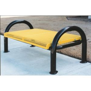 4' Portable/Surface Mount Standard Modern Bench without Contoured Back And Arms