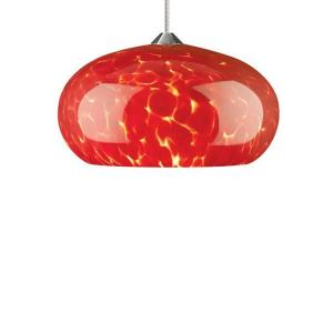 Meteor Frit - One Light Monorail Low Voltage Pendant