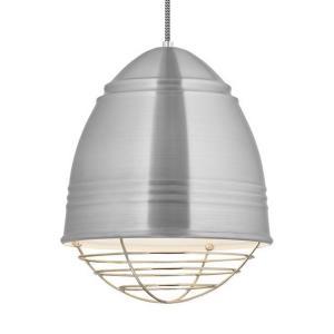 """Loft - 14.6"""" 10W 1 LED Line-Voltage Cage Pendant"""