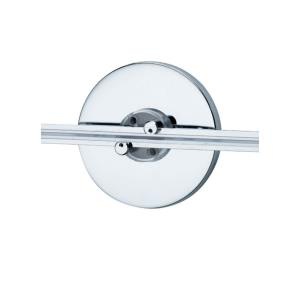 """Accessory - 4"""" LED Wall Monorail Round Direct Canopy Single Feed"""