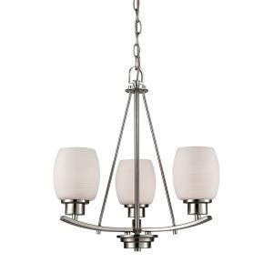 Casual Mission - Three Light Chandelier