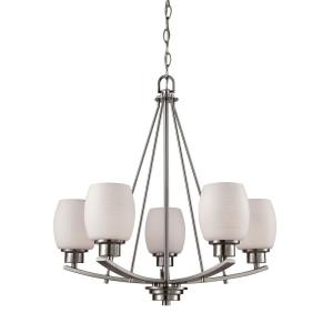 Casual Mission - Five Light Chandelier