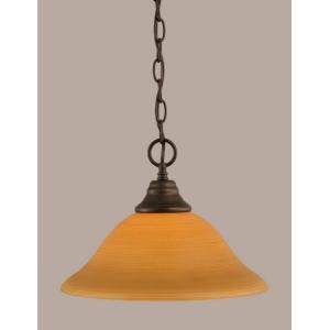 "One Light 12"" Chain Hung Pendant"