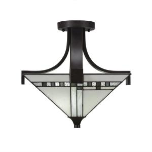 Apollo - Two Light Semi-Flush Mount