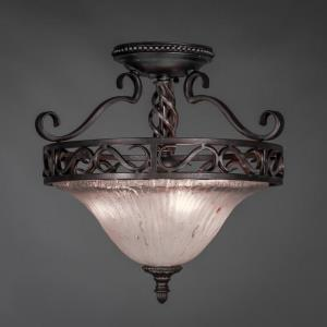 Elegante - Three Light Semi-Flush Mount