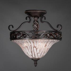 Elegante - Three Light Semi-Flush Mount