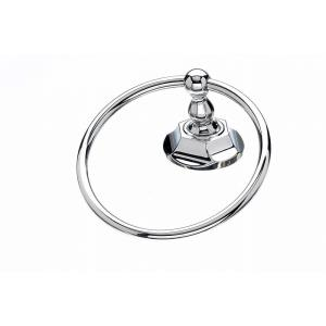 Bath Edwardian Collection 2.5 Inch Towel Ring with Hex Backplate