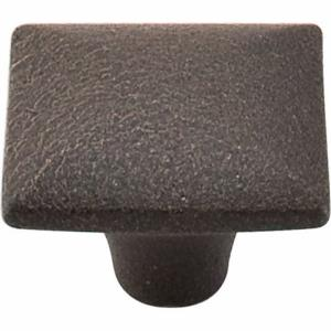 Chateau II Collection 1.375 Inch Dimpled Square Cabinet Knob