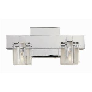 Two Light Crystal Bath Bar