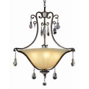 Crystal Flair - Six Light Pendant with Crystal Accent