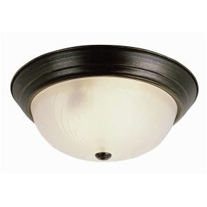 Back To Basics - Three Light Flush Mount