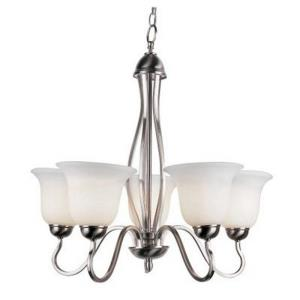 Glasswood - Five Light Chandelier