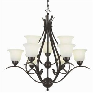 Nine Light 2 Tier Chandelier