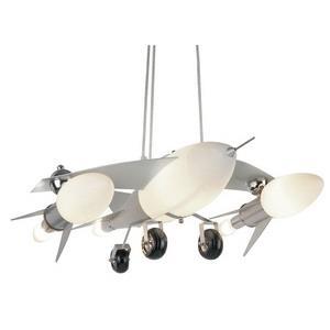 Six Light Fighter Jet Airplane Drop Pendant