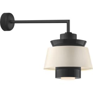 """Aero - 13.75"""" 18W 1 LED Multi Shade Wall Sconce with Miter Arm"""
