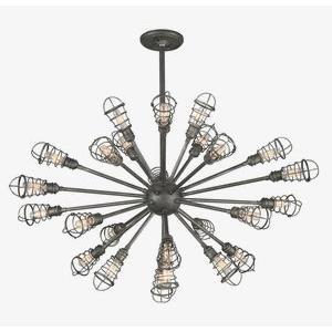 Conduit - Twenty-Five Light Extra Large Chandelier