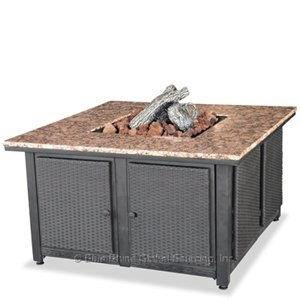 "Uniflame - 41"" Liquid Propane Gas Outdoor Firebowl with Granite Mantel"