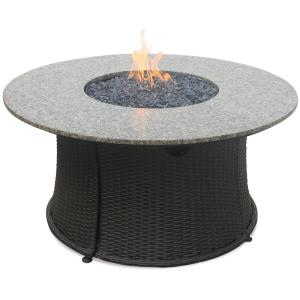 Uniflame - Liquid Propane Gas Outdoor Firebowl with Granite Mantle