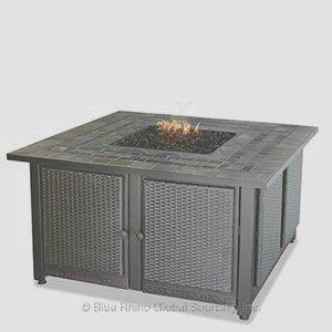 "Endless Summer - 41.3"" Liquid Propane Gas Outdoor Firebowl with Slate Tile Mantel"