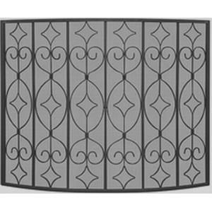 "39"" Single Panel Wrought Curved Ornate Screen"